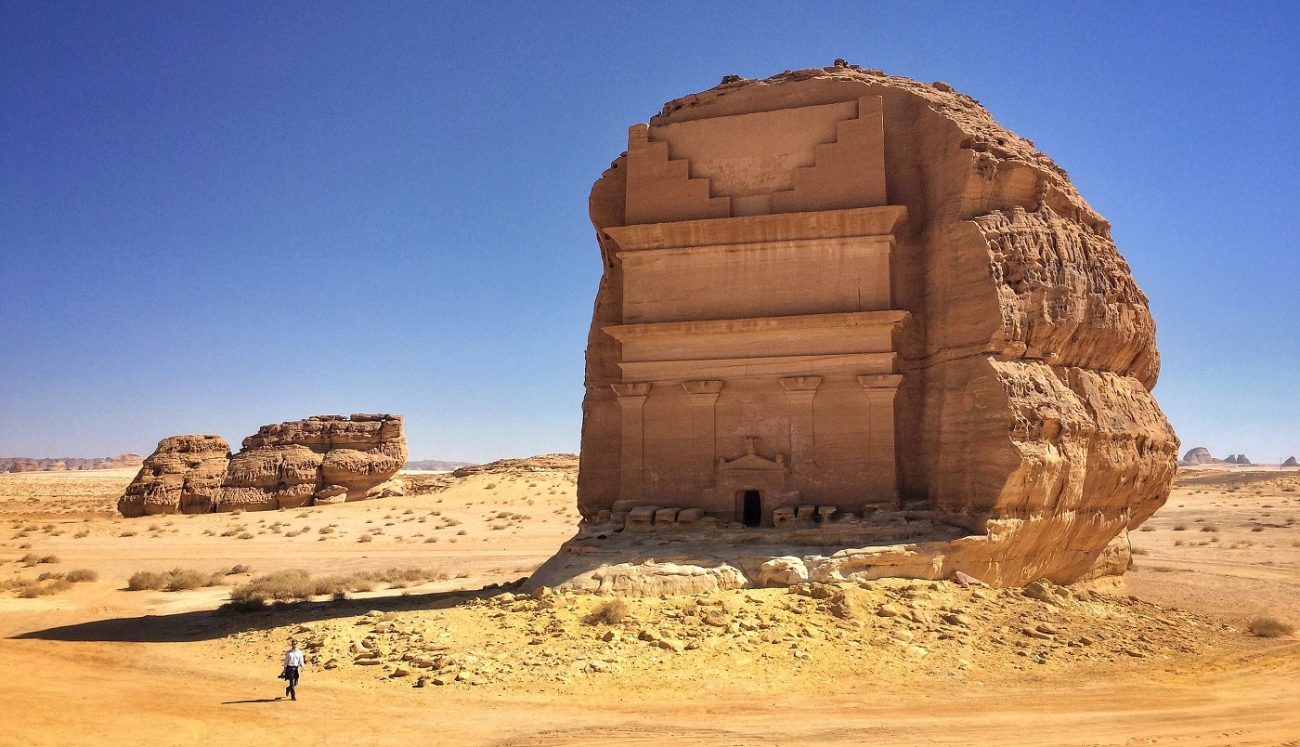 Qasr al Farid, tomb in Archeological site Mada'in Saleh, Al-`Ula, Saudi Arabia. Image Credit: Wikimedia Commons.