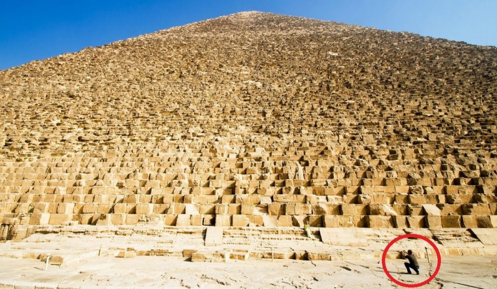 The Massive Size of the Great Pyramid of Giza Image Credit: Shutterstock.