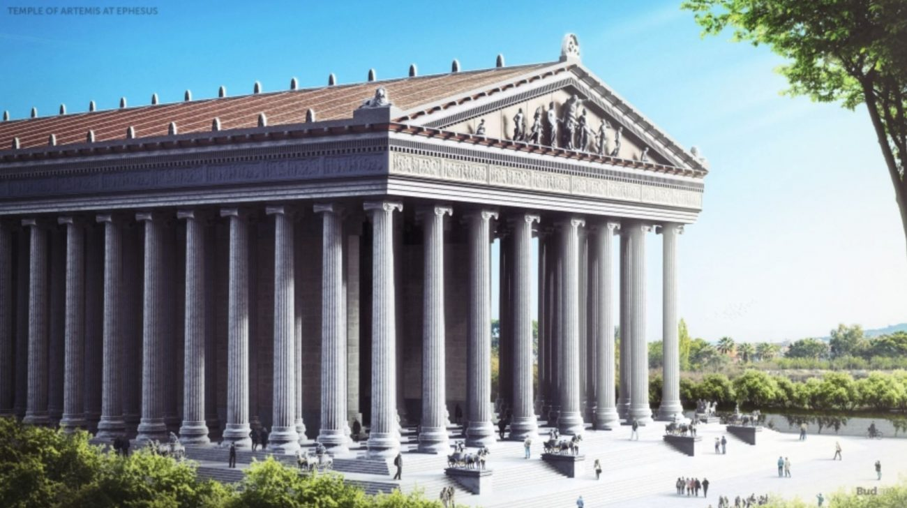 The Temple of Artemis at Ephesus. Image Credit: Budget Direct.