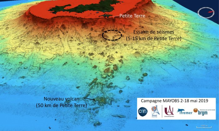 This is an undersea map showing the volcano. Image Credit: MAYOBS - CNRS/IPGP/IFREMER/BRGM.