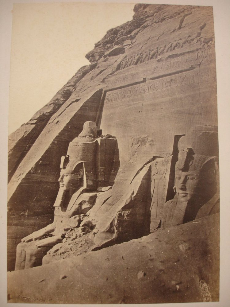 South Temple of Ramsses II at Abu Simbel. Mid-19th century. Image Credit: Brooklyn Museum / Public Domain.