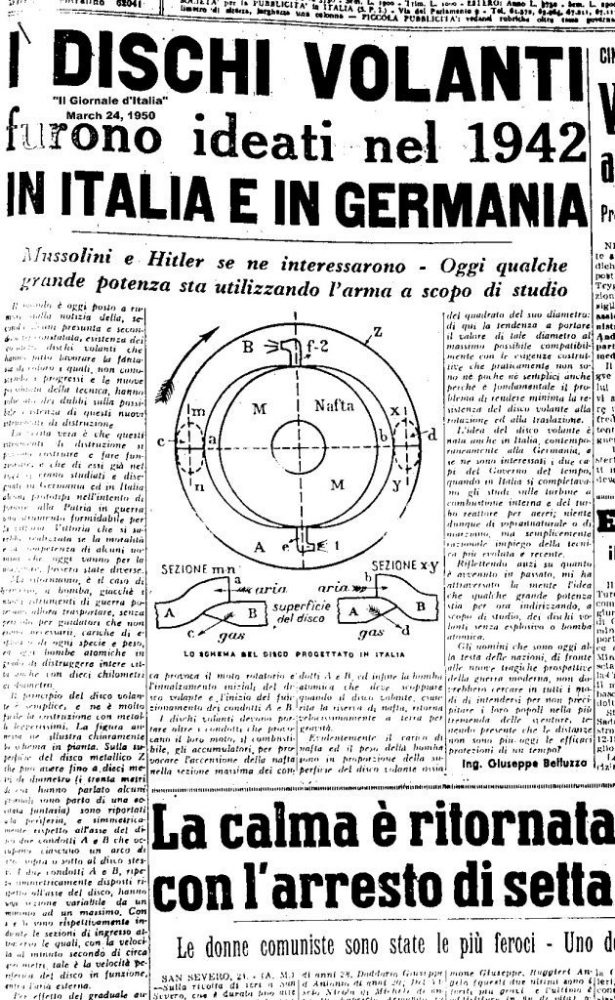 A newspaper dating back to March of 1950 speaks about UFOs.