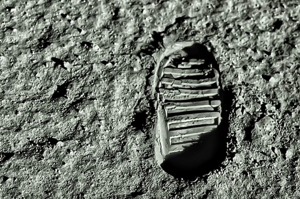 Buzz Aldrin's footprint on the moon. Shutterstock.