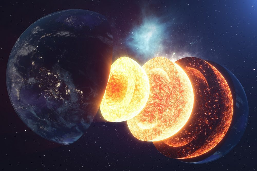 An illustration of Earth's mantle. Shutterstock.