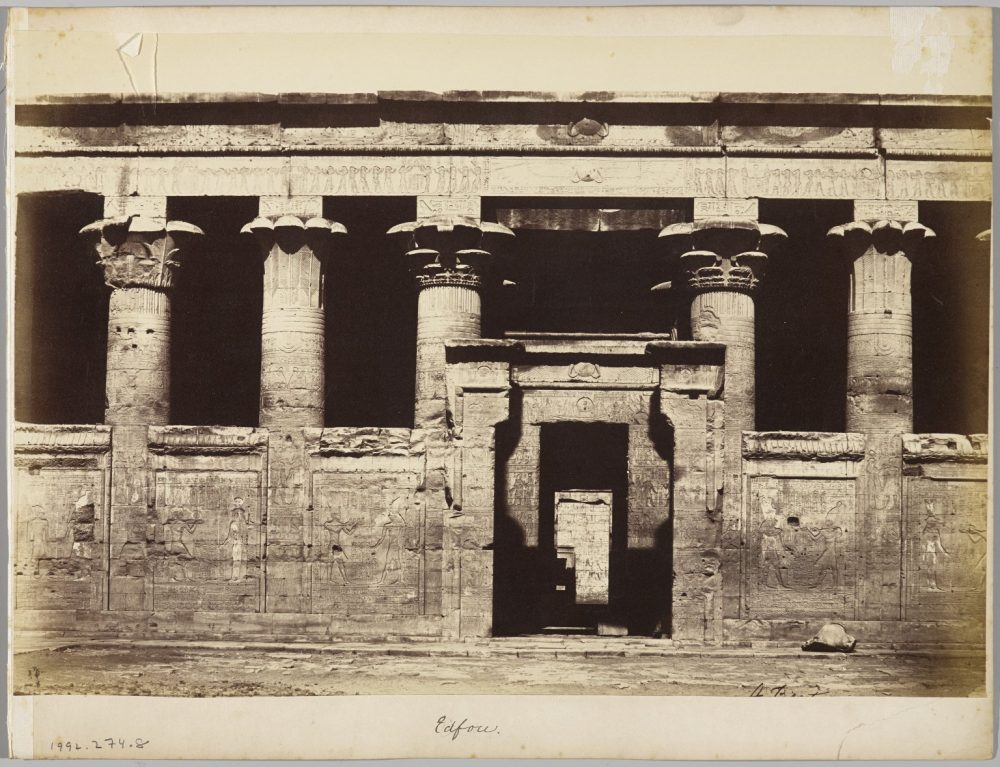 Rare view of the temple of Edfu around 1858. Image Credit: Brooklyn Museum / Public Domain.
