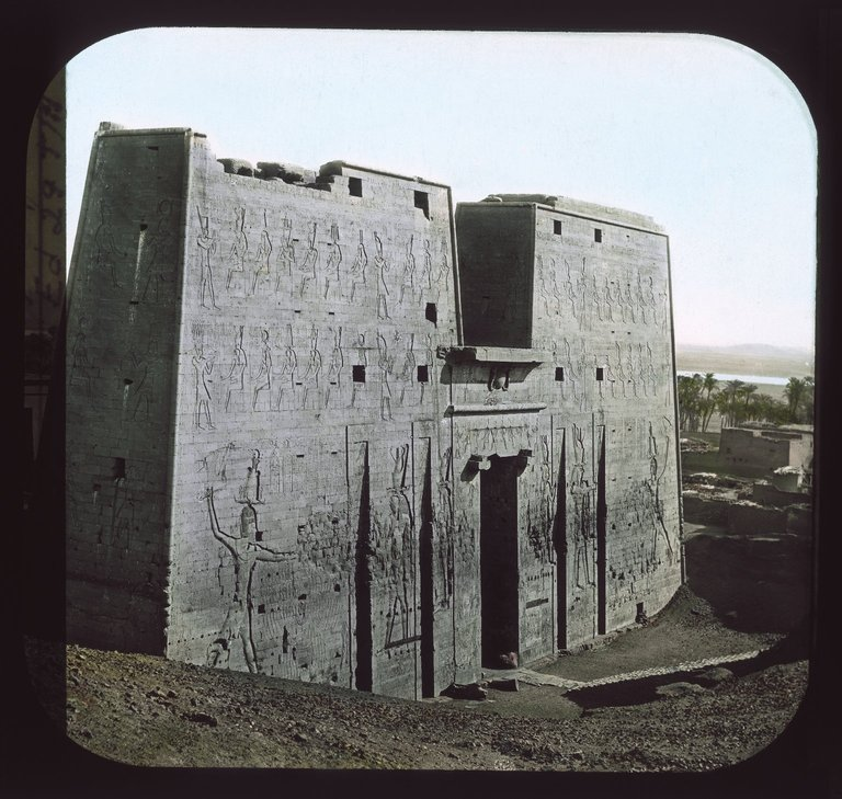 A rare view of the Temple of Edfu. Image Credit: Brooklyn Museum / Public Domain.