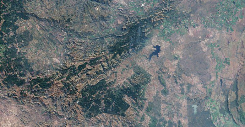 A Satellite image of the Barberton Greenstone Belt. Image Credit: NASA.