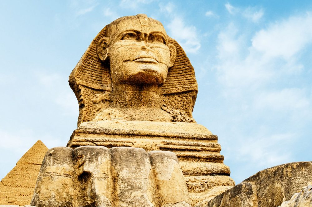 How old is the Sphinx, and in whose likeness was its face carved? Shutterstock.