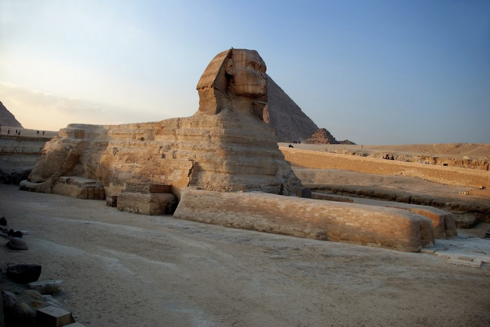 A side-view of the Great Sphinx. Shutterstock.