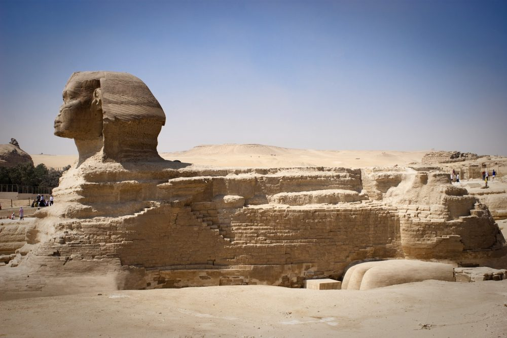 A side view of the Great Sphinx. Shutterstock.