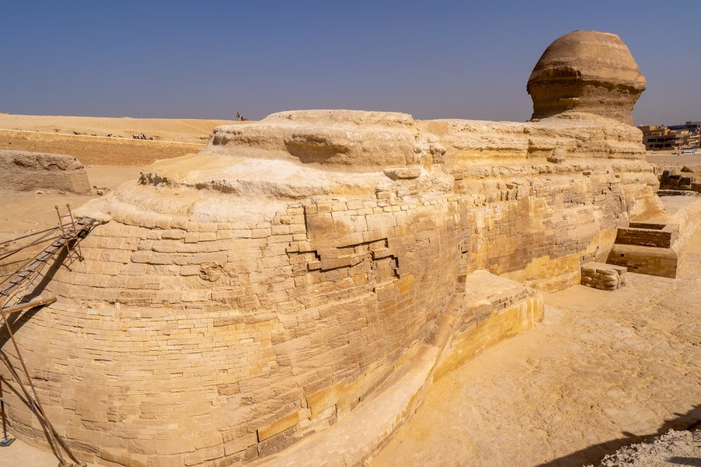 Side view of the Great Sphinx. Shutterstock.