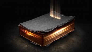 An illustration of a glowing Bible. Shutterstock.