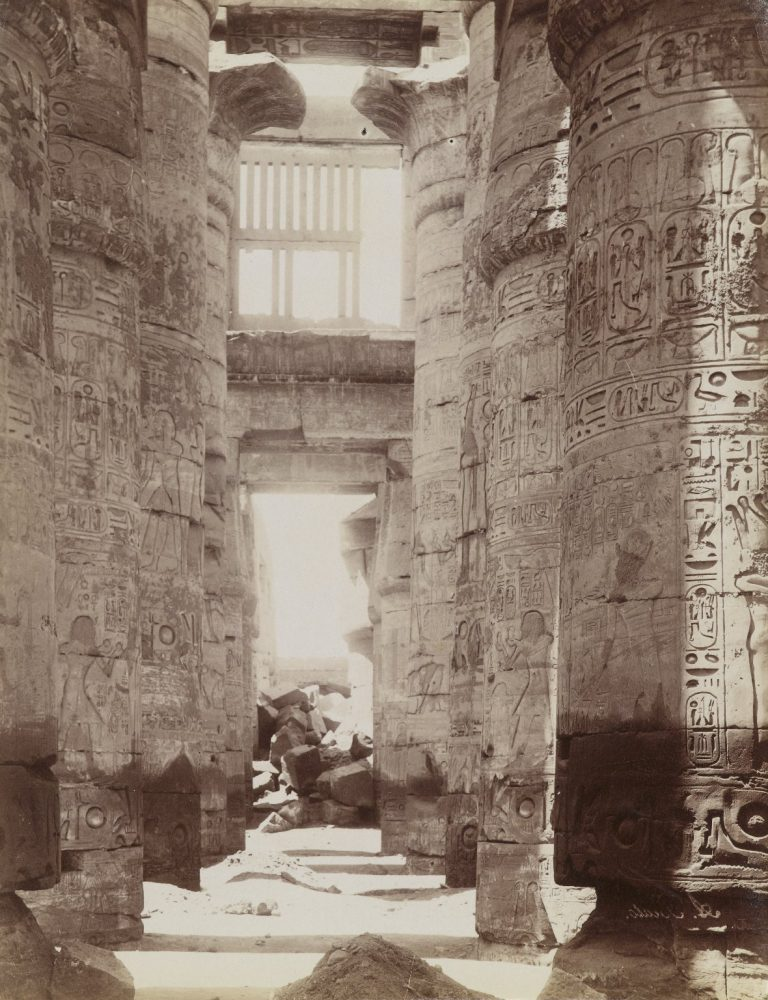 Hypostyle Hall in Temple of Karnak (View of the Hypostyle Hall). Image Credit: Brooklyn Museum / Public Domain.