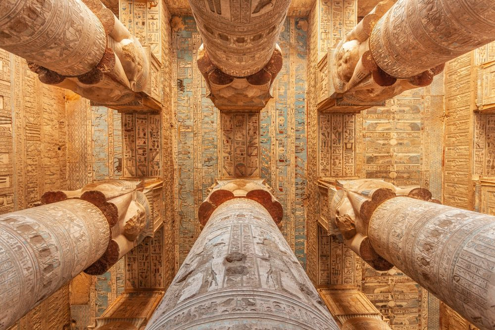 Columns of an Ancient Egyptian Temple. Shutterstock.