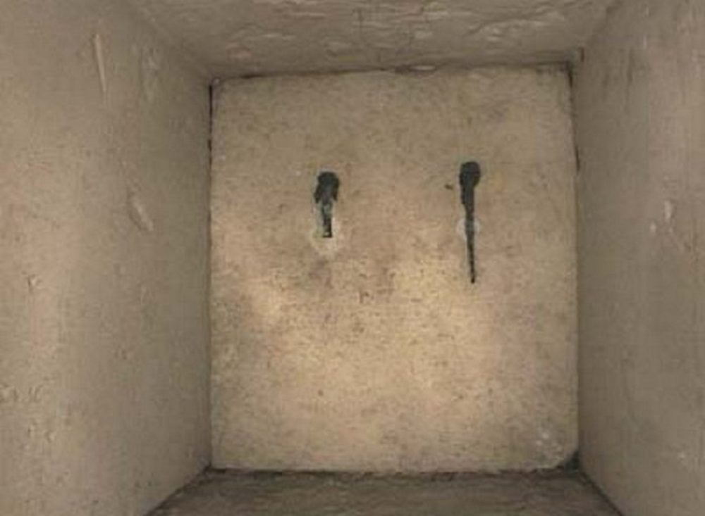 The mystery block inside the Great Pyramid of Giza.