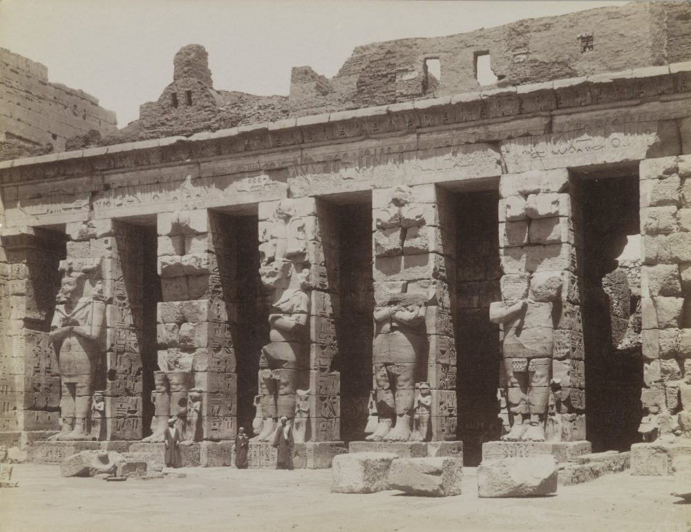 Medinet Habou Lere Cour Cote Nord, 19th century. Image Credit: Brooklyn Museum / Public Domain.