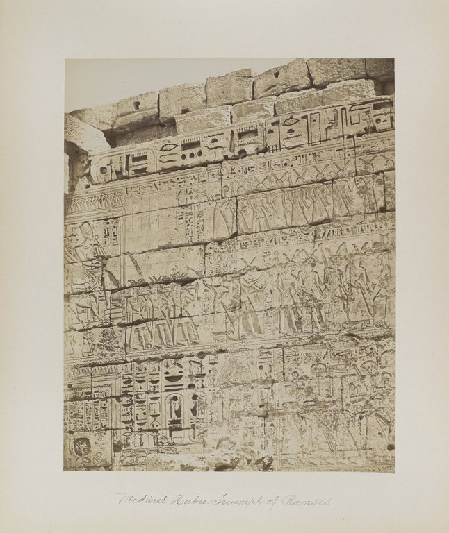 Medinet Habu: Triumph of Ramses. Image Credit: Brooklyn Museum / Public Domain.