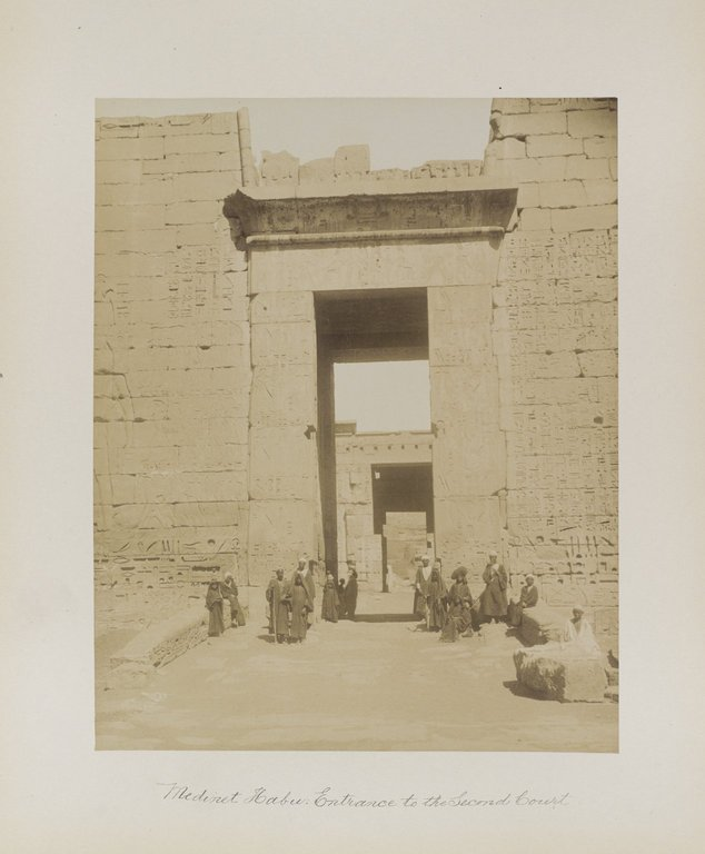 Medinet Habu: Entrance to the Second Court. Image Credit: Brooklyn Museum / Public Domain.