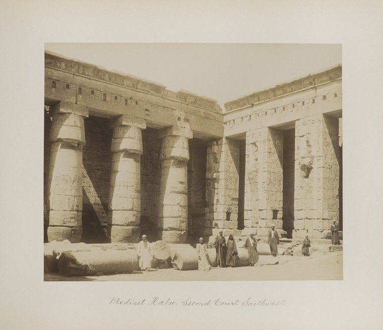 Medinet Habu: Second Court Southwest. Image Credit: Brooklyn Museum / Public Domain.