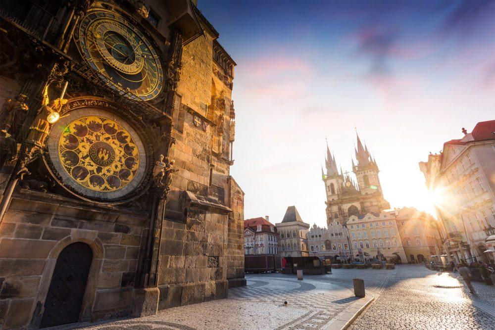 Prague's Orloj. Shutterstock.