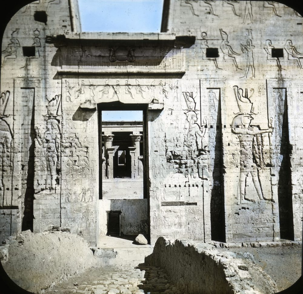 Door of the Pylon at the Temple of Edfu. Image Credit: Brooklyn Museum / Public Domain.