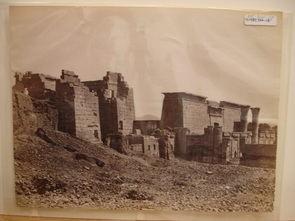 Temple at Medinet Habu, late 19th century. Image Credit: Brooklyn Museum / Public Domain.