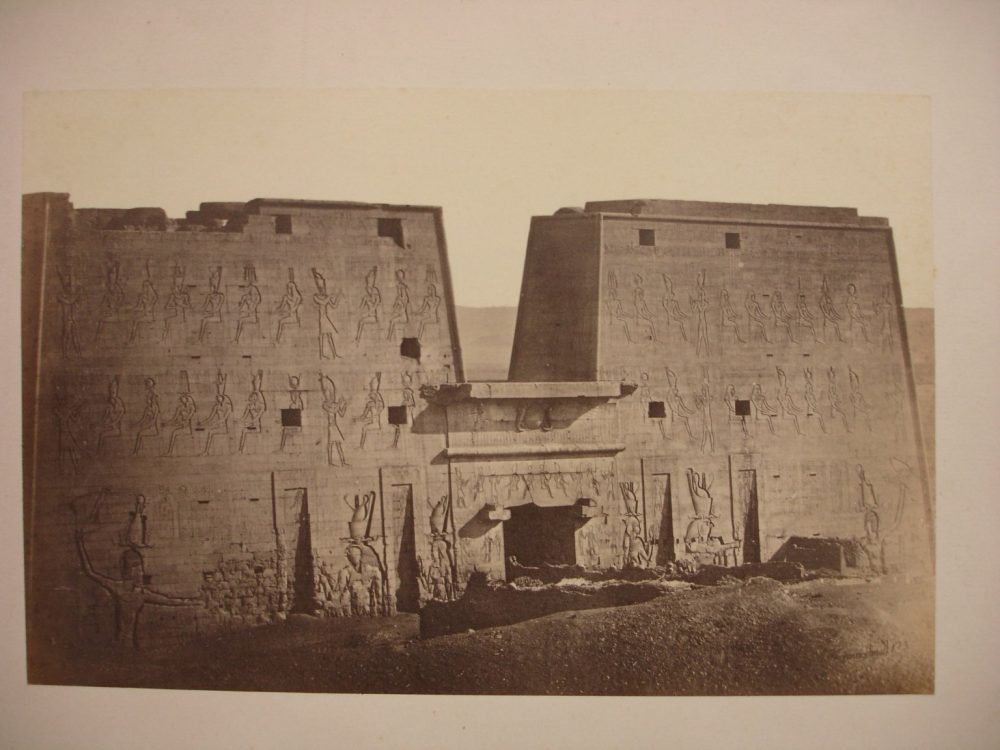 Temple of Horus Pylon, Edfu, mid-19th century. Image Credit: Brooklyn Museum / Public Domain.