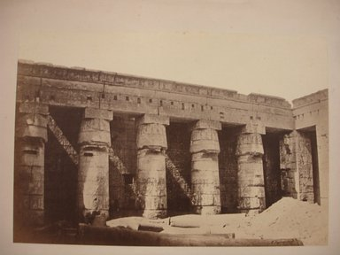 Temple of Medinet Habu, mid-19th century. Image Credit: Brooklyn Museum / Public Domain.
