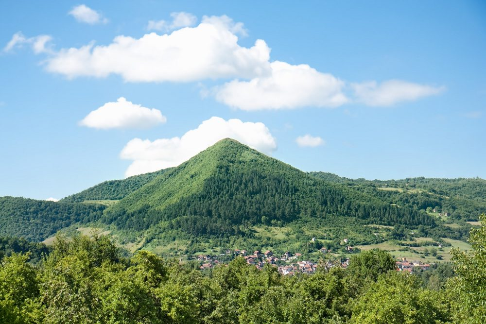 A view of the supposed Bosnian Pyramids.