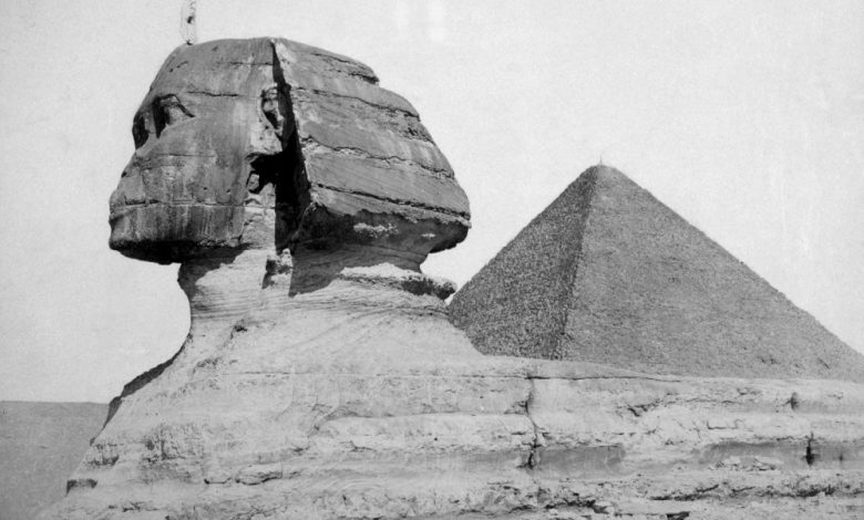 The Great Pyramid and the Sphinx, photograph by C. Zangaki ca. 1880. Shutterstock.