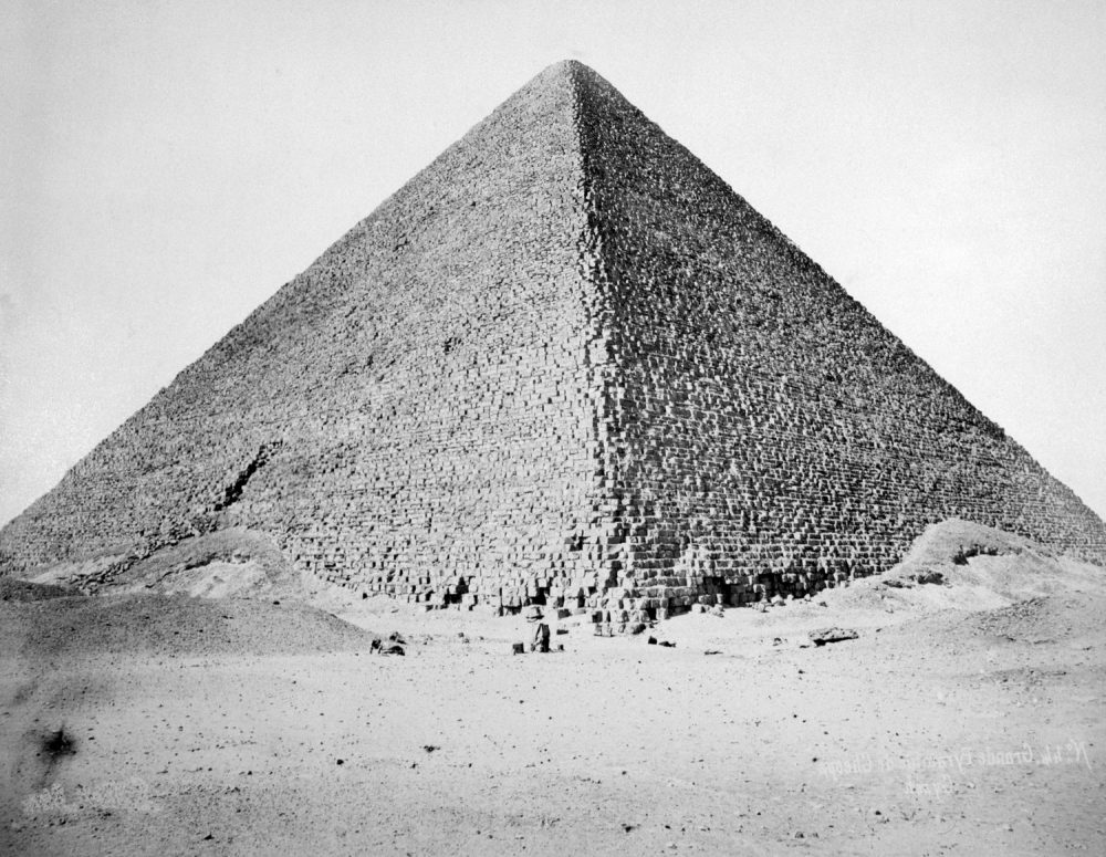 The Great Pyramid of Cheops, IV Dynasty, ca. 2680 B.C. photograph by J. Pascal Sebah, ca. 1880. Shutterstock.