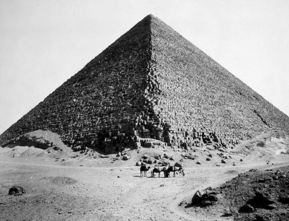 The Pyramid of Cheops, photograph by G. Lekegian ca. 1880. Shutterstock.