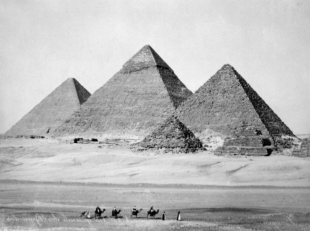 The Pyramids of Giza, photograph by C. Zangaki ca. 1880. Shutterstock.