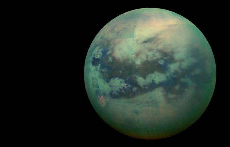 A composite image of Titan.