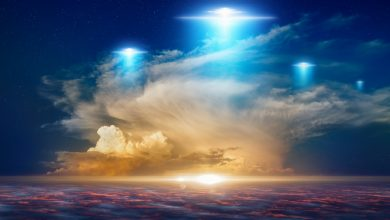 An artists rendering of UFOs in the sky. Shutterstock.