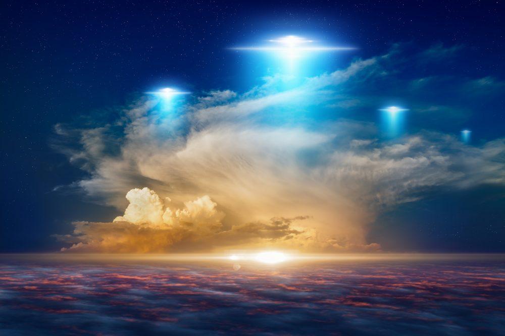An artists rendering of UFOs in the sky. Shutterstock.
