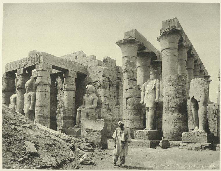 A rare, vintage image of the Luxor Temple. Image Credit: The New York Public Library Digital Gallery.
