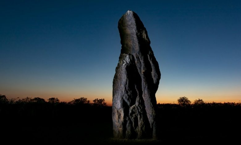 A Standing Stone at Night. Shutterstock.