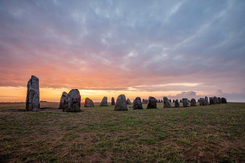 Ales Stenar Standing Stones in Sweden. Shutterstock.