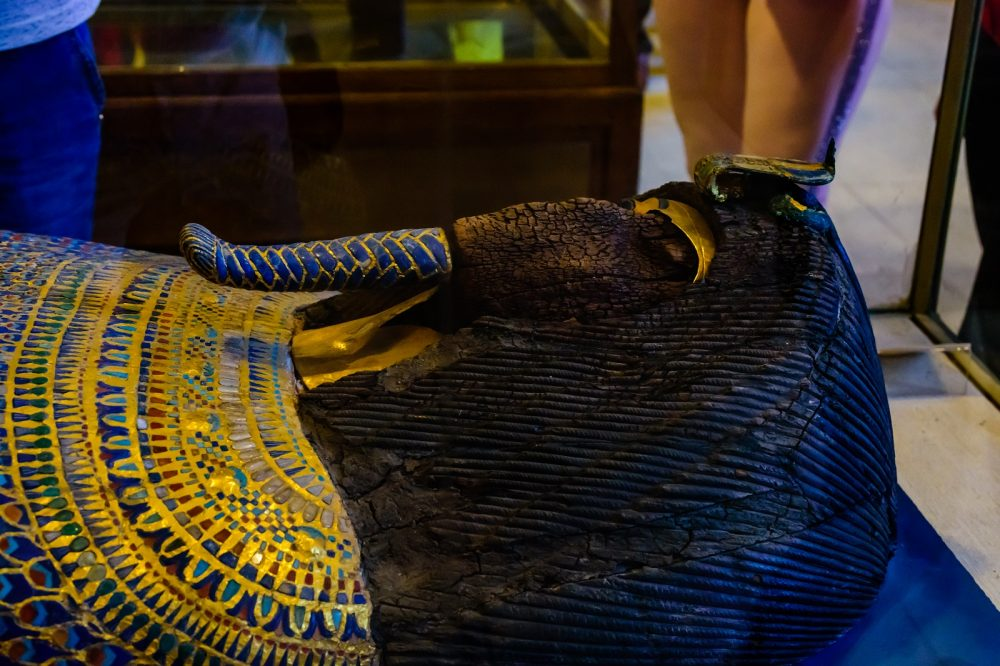 An ancient sarcophagus in Museum of Egyptian Antiquities. Shutterstock.