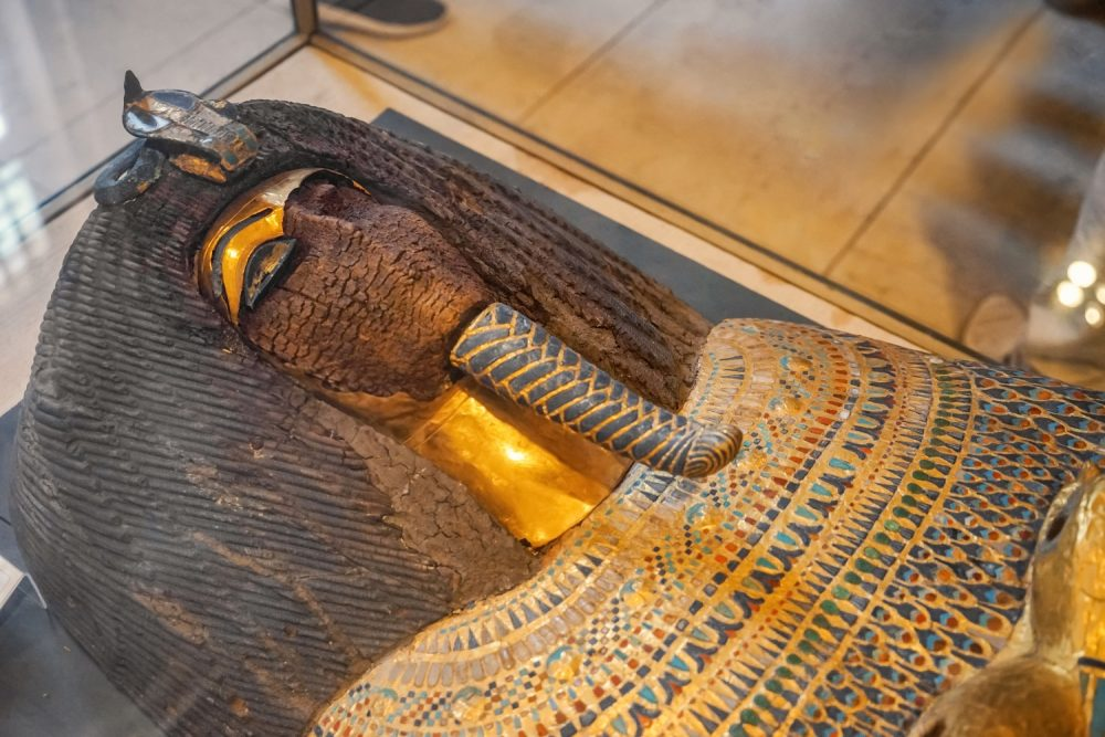 An Ancient sarcophagus in The Museum of Egyptian Antiquities. Shutterstock.