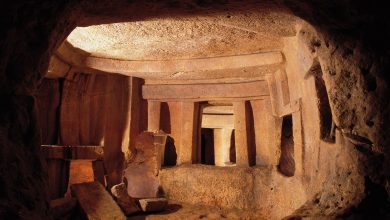 The inside of Malta's Ancient Hxypogeum. Image Credit: www.viewingmalta.com