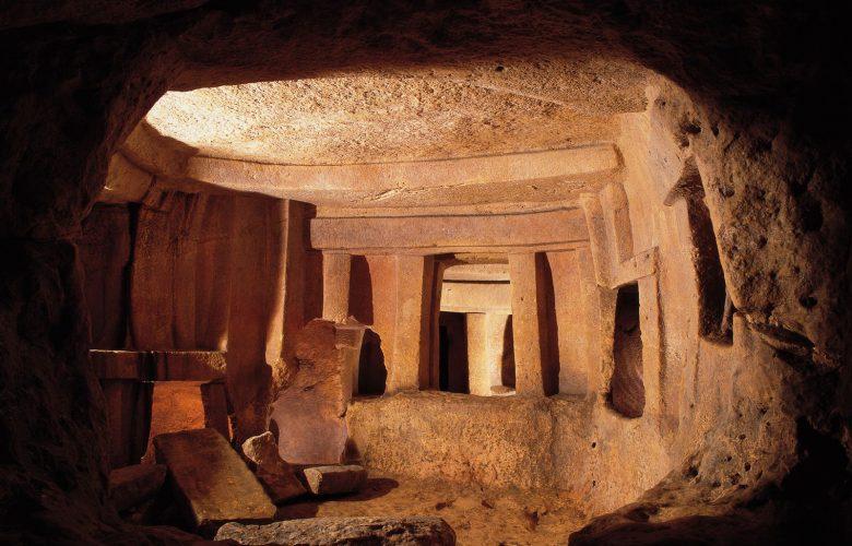 The inside of Malta's Ancient Hxypogeum. Image Credit: www.viewingmalta.com