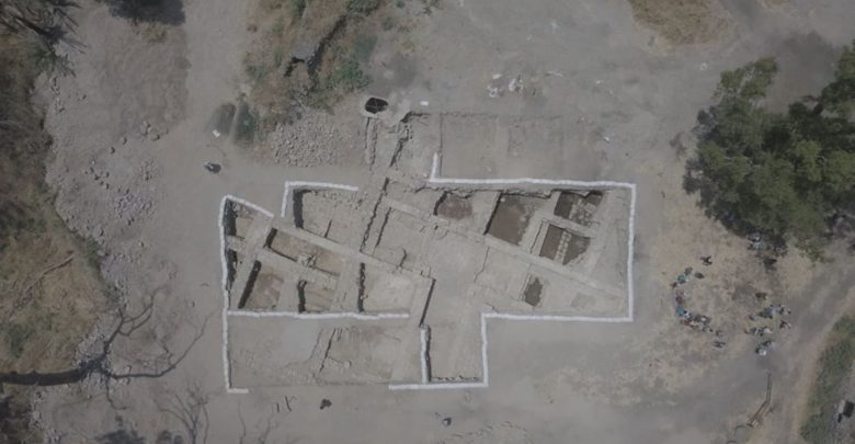 Aerial view of the archaeological site. Image Credit: El-Araj Excavations.