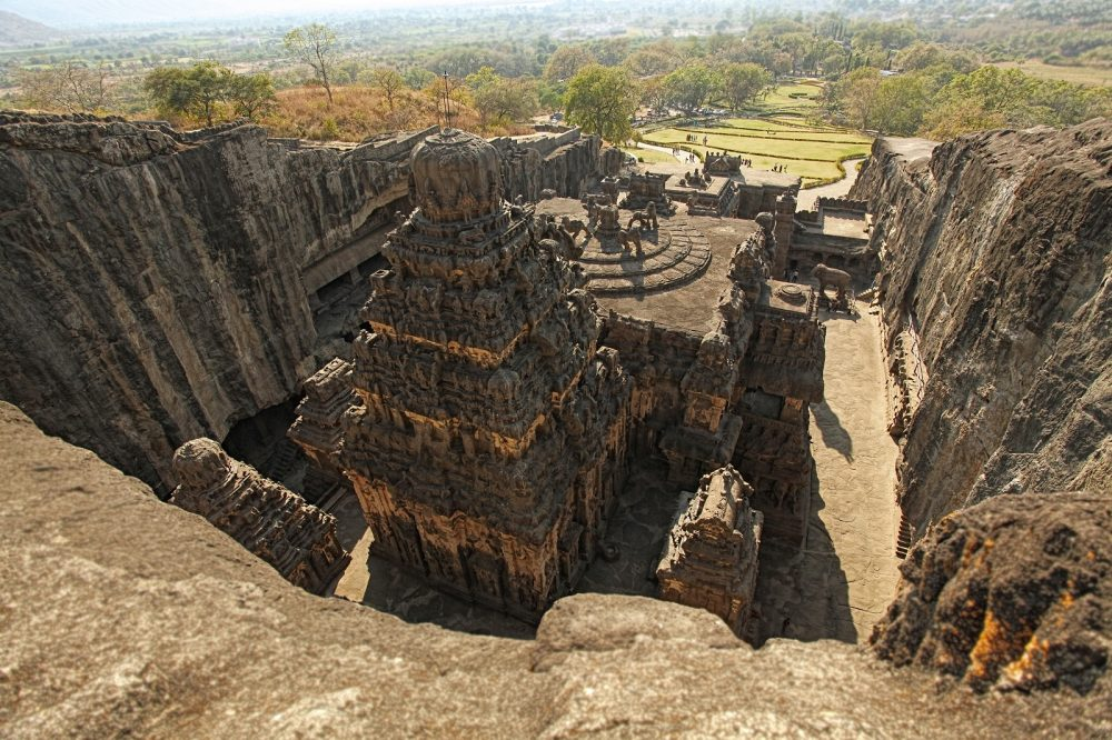 A view of the Kailasa Temple. Shutterstock.