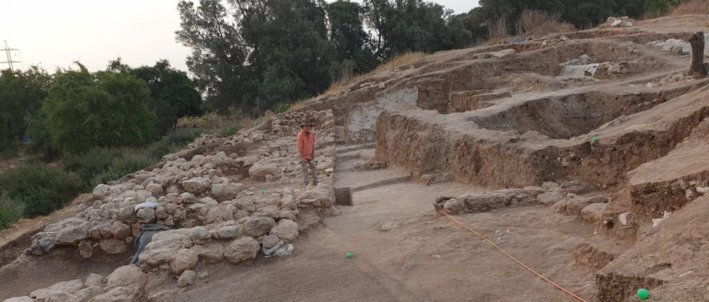 The Archaeological remains of Gath, a city home to cyclopean structures, thought to have been the hometown of Goliath. Image Credit: Prof. Aren Maeir, Tell es-Safi Archaeological Project, Bar-Ilan University.