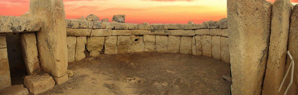 Massive stones Mnajdra temple in Malta. Shutterstock.