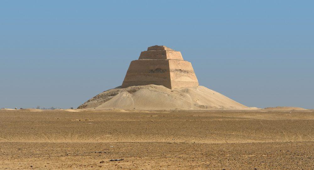 Pharaoh Huni's Pyramid at Meidum. Shutterstock.