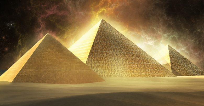 Illustration of the Pyramids. Shutterstock.