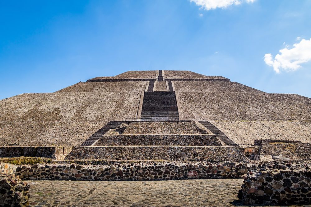 A view of the Sun Pyramid at Teotihuacan. Shutterstock.